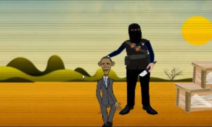 Un clip animé montre Obama décapité par le bourreau de l'Etat islamique « John le djihadiste »