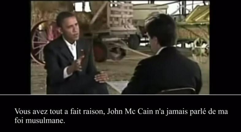 [Vidéo] Barack Obama avoue sa foi musulmane et ses racines musulmanes. Obama reconnait qu'il est musulman