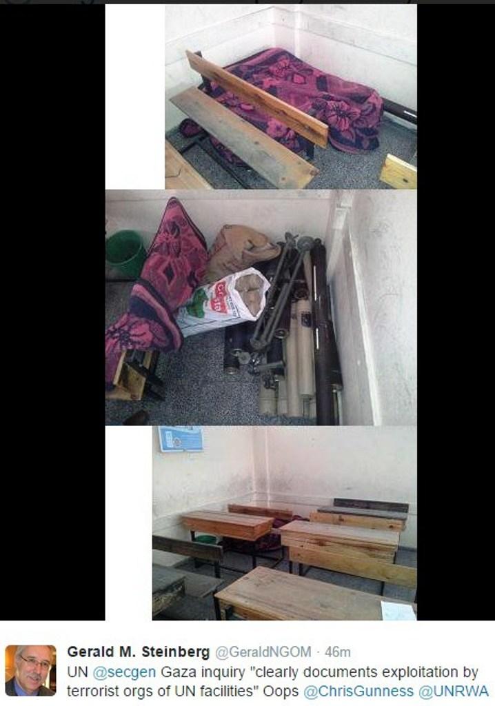 Armes découvertes dans les écoles de l'ONU à Gaza