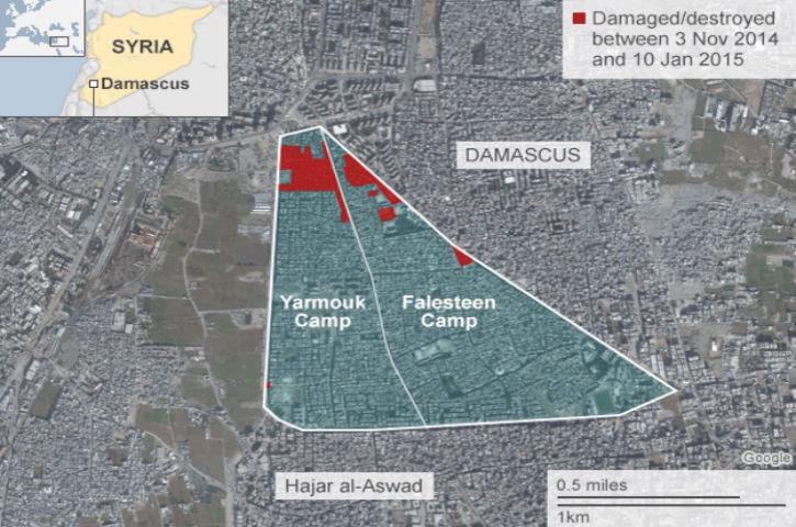 Alerte info: L'Etat islamique a violemment attaqué les Palestiniens du camp de réfugiés de Yarmouk. Silence radio d'Europalestine…