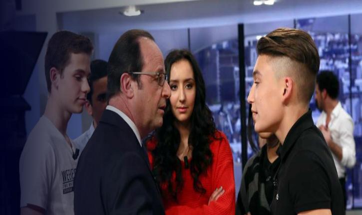 [Vidéo] Des lycéens interrogent Hollande sur les Juifs et Dieudonné