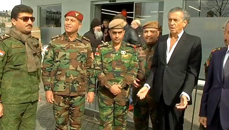 [Vidéo] Une délégation de peshmergas irakiens à l'Hyper Cacher Porte de Vincennes à l'initiative de BHL
