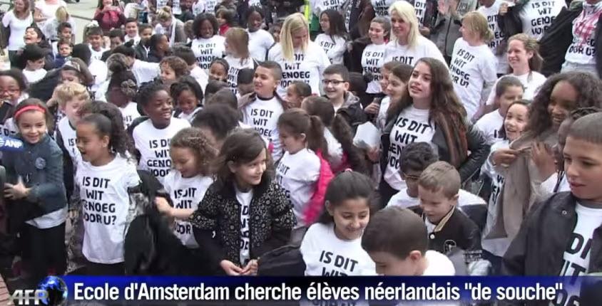 [Vidéo] Pays Bas: «Elève noir» cherche «élèves néerlandais blancs de souche» à Amsterdam