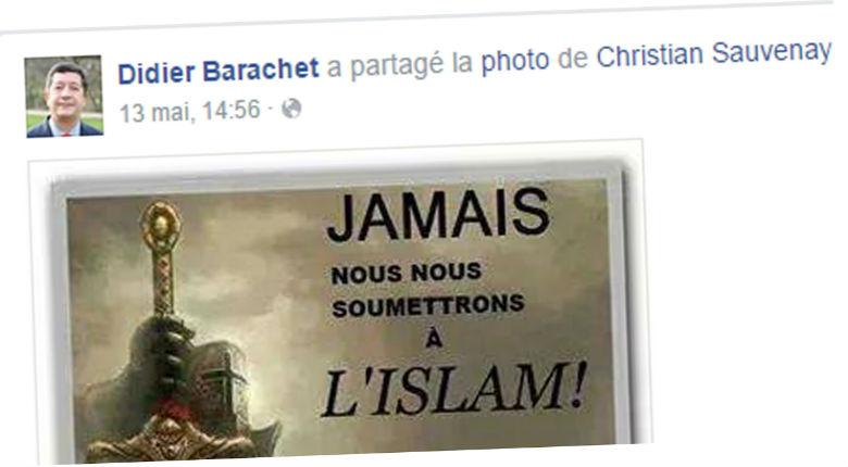 Un maire UMP diffuse une image anti-islam sur Facebook