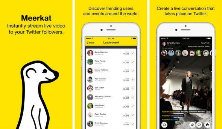 Meerkat applications israéliennes, l'une des plus téléchargées sur l'Apple Store