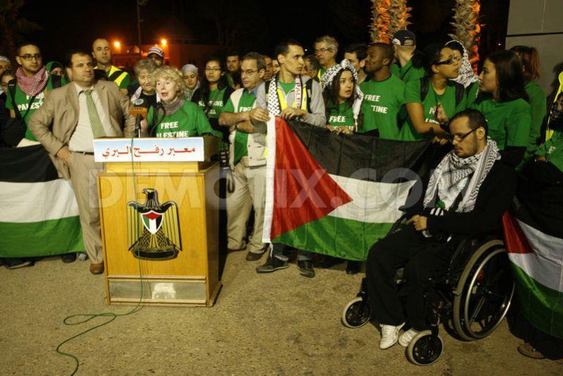 Olivia Zemor à Gaza en soutien au Hamas