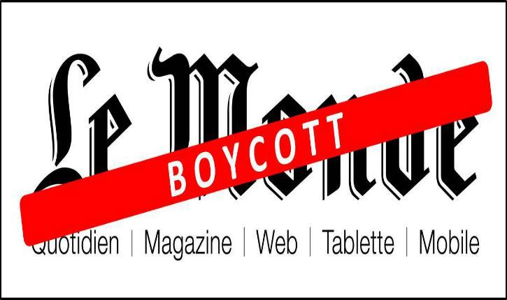 Europe-Israël appelle à boycotter les publications du groupe Le Monde