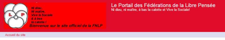Site des des Fédérations de la Libre Pensée