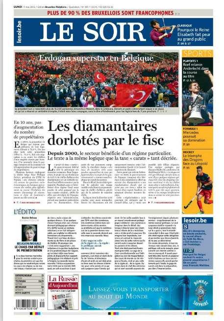 antis mitisme en belgique inf me caricature antijuive parue dans le journal belge le soir. Black Bedroom Furniture Sets. Home Design Ideas