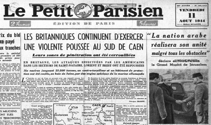 Document inédit : interview du Grand Mufti de Jérusalem du 11 août 1944 en France