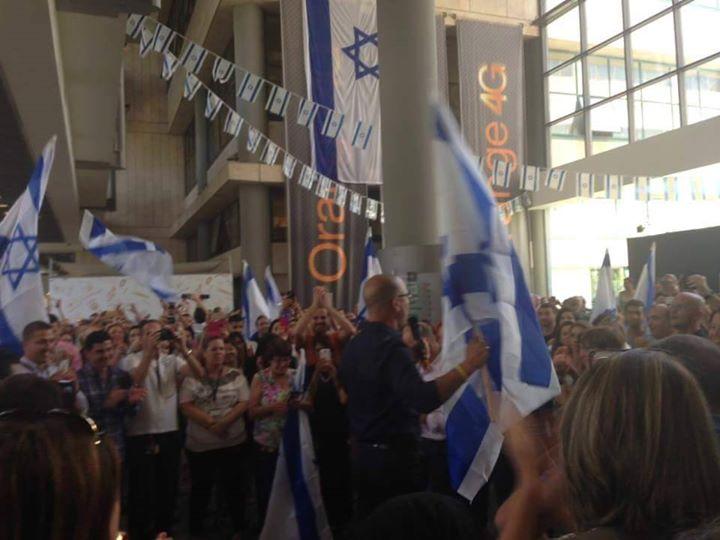 Les salariés d Orange soutiennent Israël