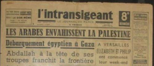 Titre tiré de la revue française l'Intransigeant.
