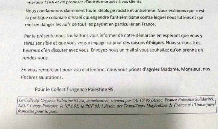 Les pharmaciens d'Ile de France harcelés afin de boycotter les produits Teva par CUP, EELV, le NPA et le PCF
