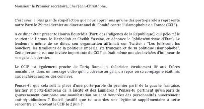 Des cadres du PS demandent à Cambadélis de s'expliquer sur ses liens avec les islamistes du CCIF