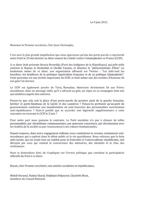 lettre cadres PS