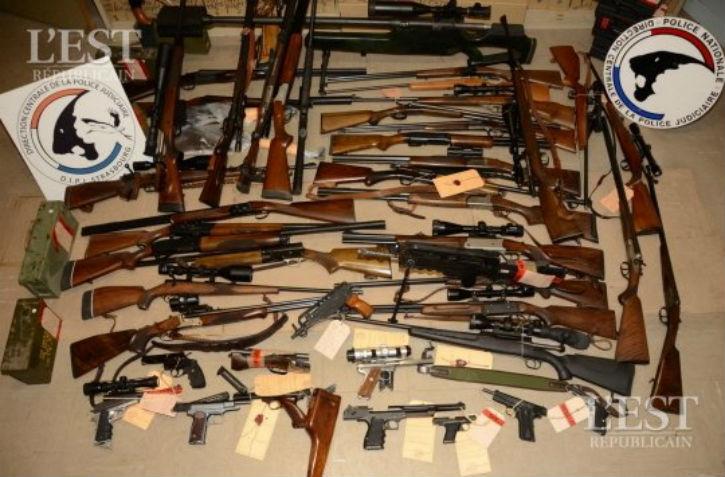 Metz:  Trafic d'armes mis à jour, quatre personnes interpellées dans le Pays de Bitche