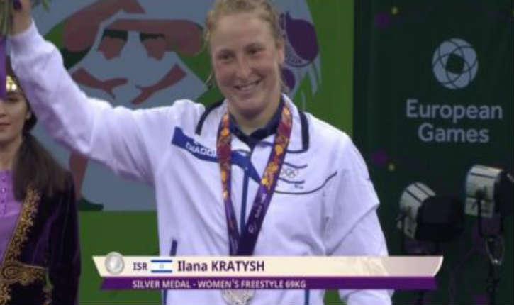 Roumanie: L'athlète israélienne Ilana Kratysh, remporte la médaille d'or de lutte à l'Open de Bucarest