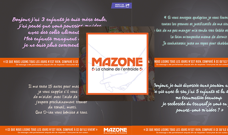 MAZONE: la campagne contre la pauvreté qui émeut les internautes