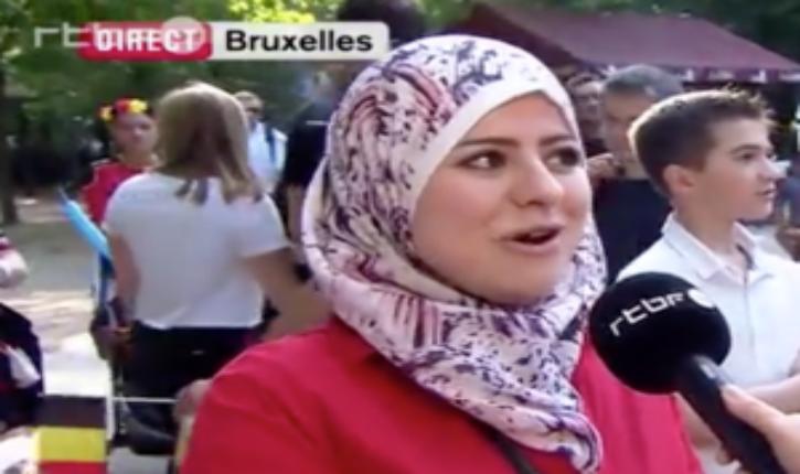 [Vidéo] Télévision belge: La seule personne interrogée pour la fête nationale est une femme voilée