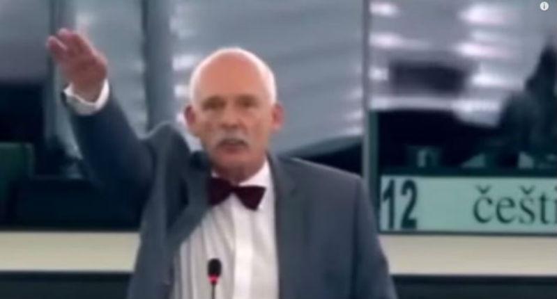 Dérapage au Parlement européen : un député polonais d'extrême-droite fait un salut nazi