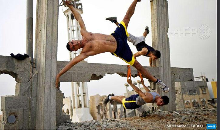 L'AFP perd la boule et diffuse la photo de Gazaouis en bonne santé en train de faire du Sport