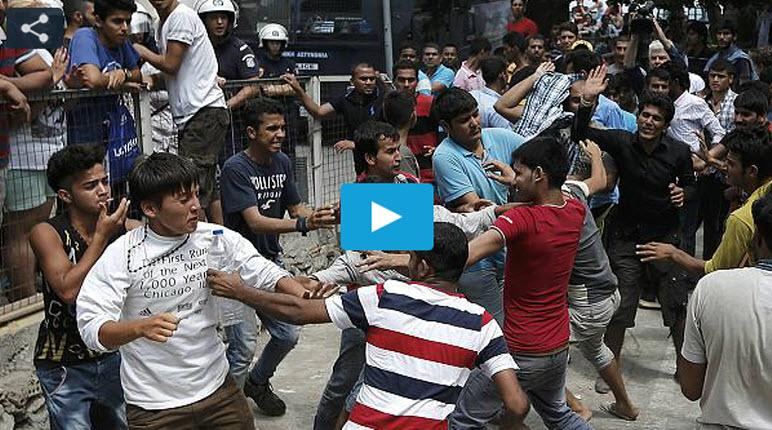 [Vidéo] Grèce : Heurts violents entre migrants clandestins. Un climat de forte tension sur l'île de Kos, les autorités sont débordées