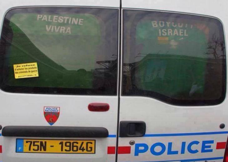 [Image] Boycott d'Israël: Les boycotteurs se manifestent jusque dans les fourgons de Police…