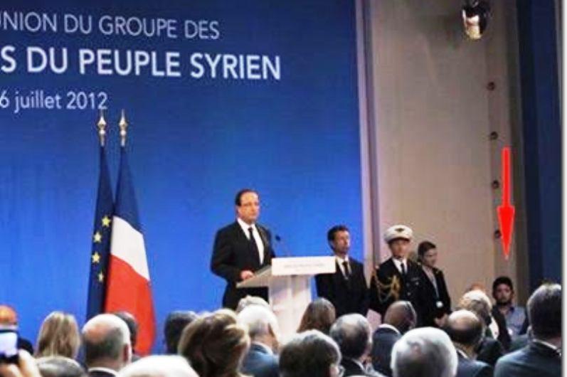 François Hollande et Abou Saleh l'égorgeur