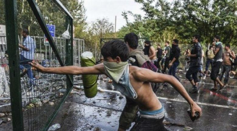 Hongrie : les clandestins forcent les frontières, 20 policiers blessés, un terroriste islamiste arrêté
