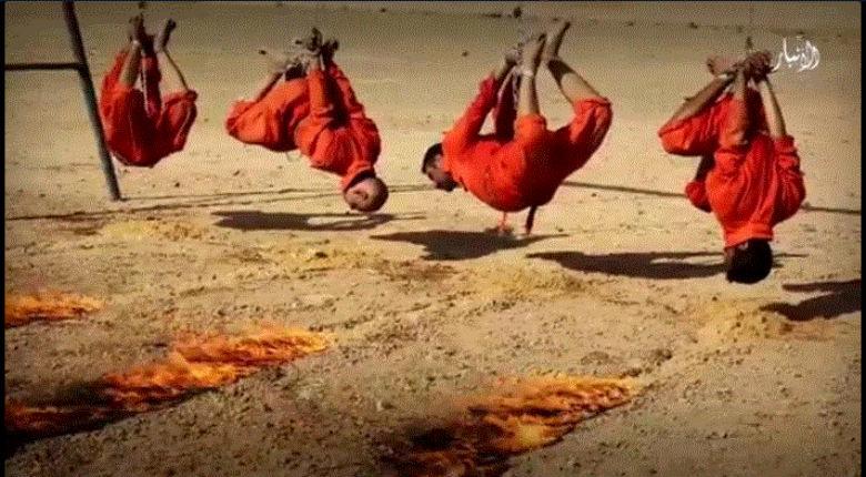 Irak: Nouvelle vidéo d'horreur, l'Etat islamique brûle vivants 4 hommes