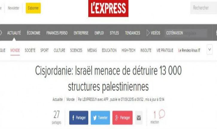 Désinformation : l'Express corrigé par ces Goys qui défendent Israël
