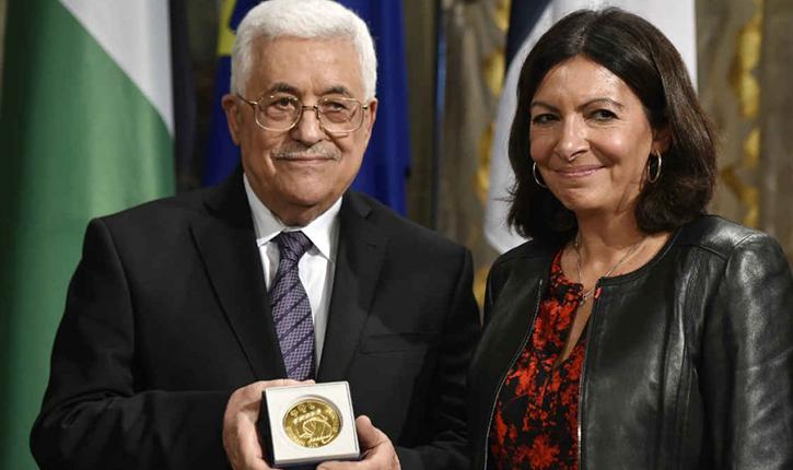 Mahmoud Abbas (décoré par Anne Hidalgo) « Les juifs n'ont pas le droit de souiller la mosquée Al-Aqsa de leurs pieds sales. L'église du Saint-Sépulcre nous appartient »