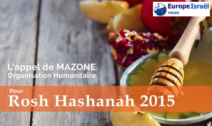 ROSH HASHANAH, l'appel de MAZONE et d'Europe-Israel.org pour 180 familles dans le besoin
