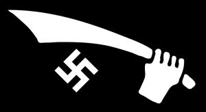 (Drapeau de la Division ''Handchar'', cad ''Cimeterre'' )
