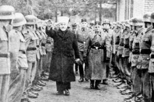 Mufti Al Husseini troupes nazis