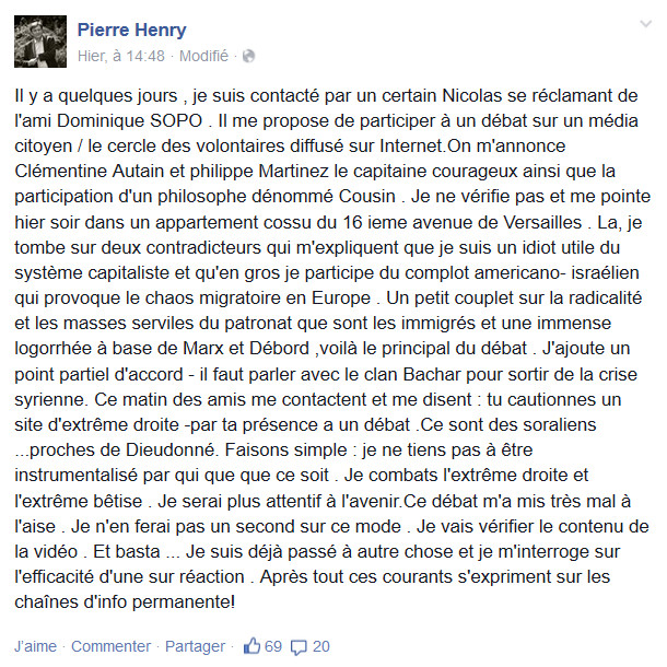Pierre Henry facebook