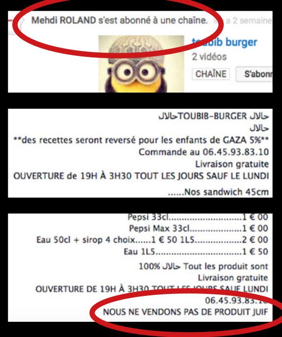 """Patron d'un fast-food, sa carte était très spéciale. Annonçant reverser 5% de la note à la Palestine, il précisait : """"Nous ne vendons pas de produits juifs"""""""