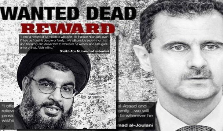 Al-Qaïda offre 3 millions d'euros pour les têtes d'Assad et Nasrallah