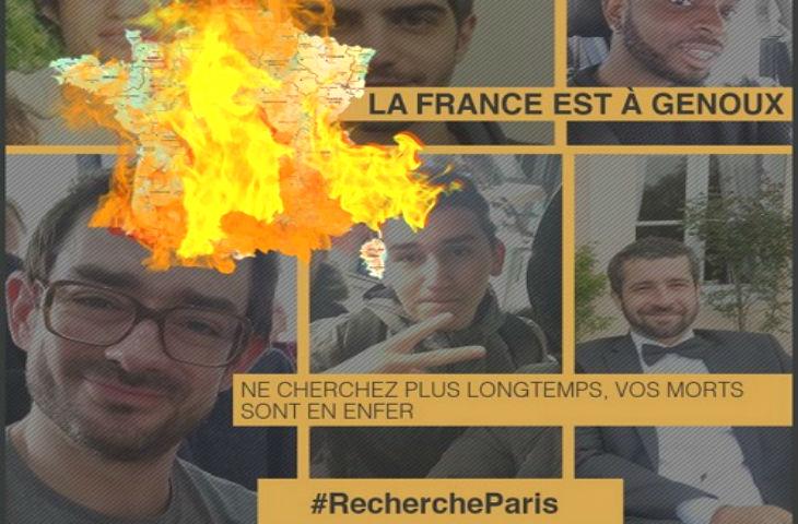 Des combattants et musulmans français qui soutiennent l'Etat islamique expriment leur joie après les attentats de Paris et narguent la France