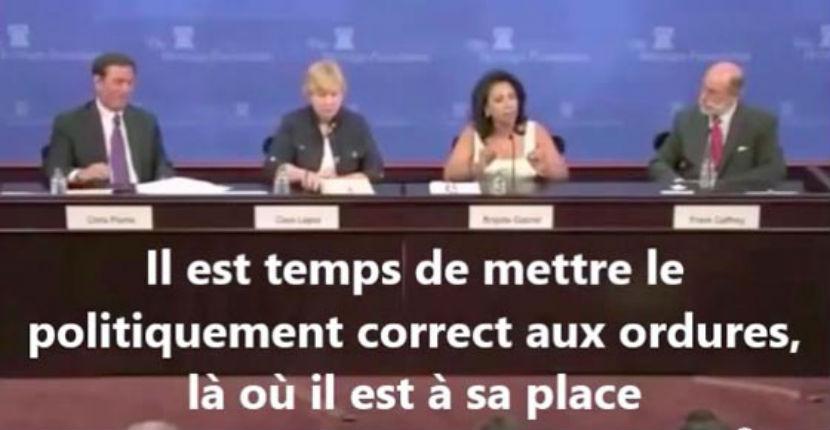 Vidéo – Débat aux USA «Il est temps de rejeter le politiquement correct. La majorité pacifique des musulmans ne compte pas face aux 15% de radicaux qui veulent détruire l'Occident»