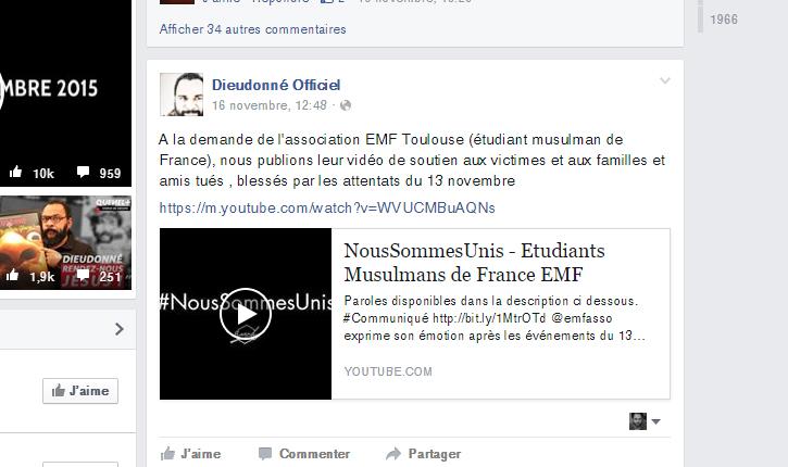 Les Etudiants Musulmans de France contactent Dieudonné pour faire leur promotion