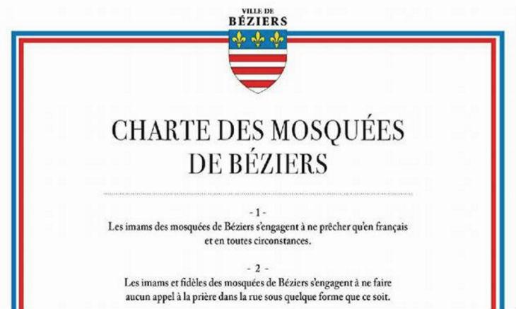 Béziers : Ménard demande aux mosquées de signer une «charte»