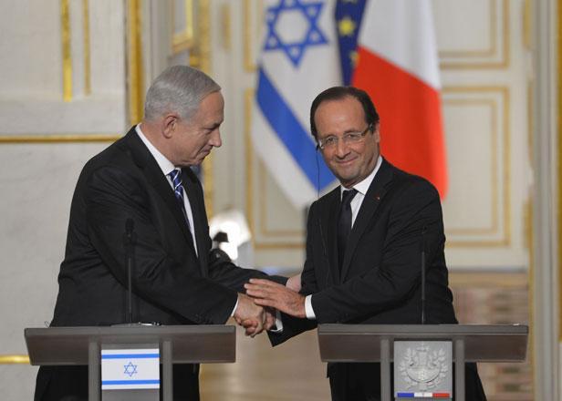 Hollande a remercié Netanyahu pour son soutien