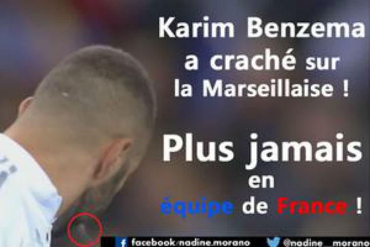 Attentats: Nadine Morano veut exclure Benzema des Bleus pour avoir craché après la Marseillaise