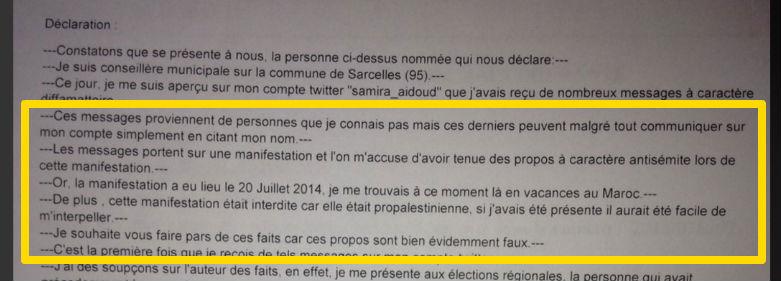 plainte Samira Aidoud 2