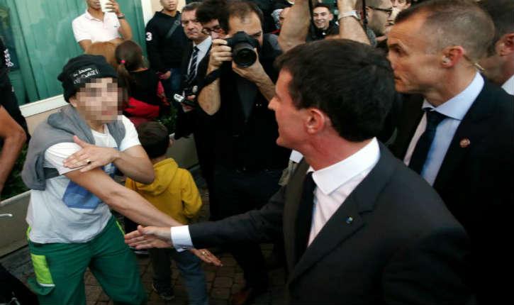 Moirans: interpellation d'un homme ayant fait une «quenelle» à Manuel Valls
