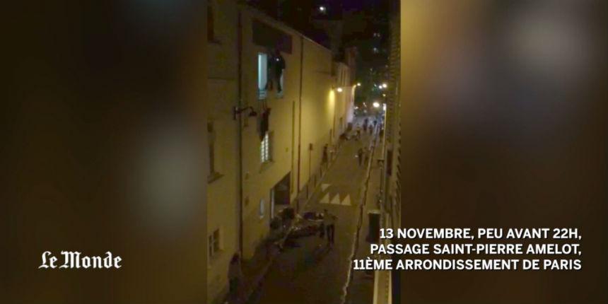 Attentats de Paris: La vidéo effroyable des victimes du Bataclan fuyant par une issue de secours « C'était une boucherie, des corps partout »