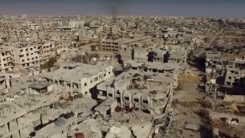 [Vidéos] Scènes Apocalyptiques : images filmées par un drone montrant les destructions d'un faubourg de Damas