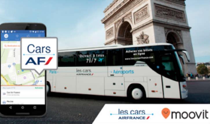 Moovit, leader israélien du transport public dans le monde en partenariat avec les Cars Air France