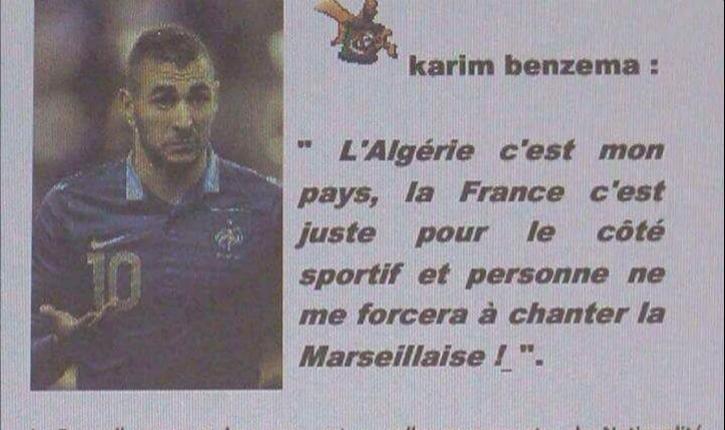 Les Français ne veulent plus de Benzema